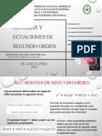 SISTEMAS Y ECUACIONES DE SEGUNDO ORDEN