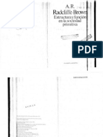 Estructura Y Funcion en La Sociedad Primitiva-Radcliffe Brown