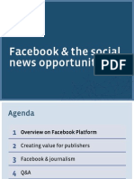 Facebook & the social news opportunity
