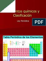Elementos químicos y Clasificación