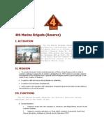 Philippine Marine Corps - 4th Marine Brigade (Reserve)
