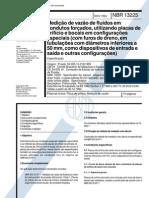 NBR 13225 - Medicao de vazao de fluidos em condutos forcados utilizando placas de orificio e boca