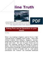 Eating Pork can be Hazardous to your Health