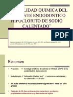 ad Quimica Del Irrigante Endodontico Hipoclorito de Sodio