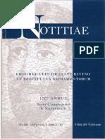 Noticiae vol 45 (2008)  La Vigilia di Pentecostes