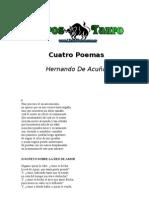 Acuña, Hernando - Cuatro Poemas