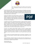 Comunicado Giovanna Grandón