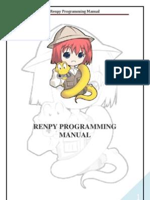 Renpy Programming Manual | Menu | Widget (Gui)