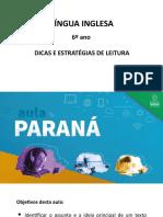 DICAS E ESTRATÉGIAS DE LEITURA em inglês