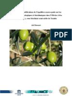 Influence de Modification d'Équilibre Source Puits Sur Para Physio Et Biochi en Clim Aride