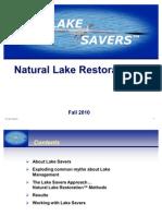 Lake Savers Natural Restoration