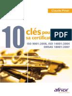 1 2 10 Clés Pour Réussir Sa Certification QSE by Claude Pinet