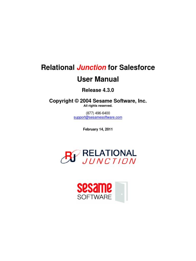 Relational_Junction_for_Salesforce_User_Manual | Salesforce Com