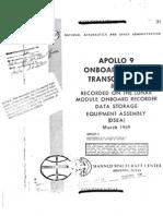Apollo 9 Onboard Voice Transcription LM