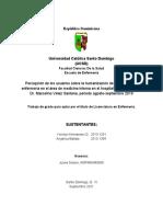 Percepción de los usuarios sobre la humanización de la atención de enfermería en el área de medicina interna en el hospital general regional Dr. Marcelino Vélez Santana, periodo agosto-septiembre 2019
