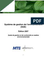 Environmental Management System-fr