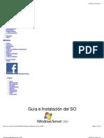 Instalación Windows Server 2008