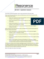 IIT-JEE 2011 - Qualitative Analysis v2