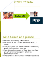 CSR INITIATIVES BY TATA GROUP