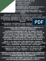 LA FUNCION DE LA LEY Y LA FE