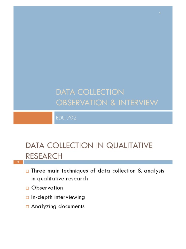 what is observation in data collection
