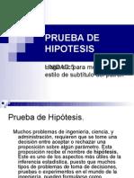 VII PRUEBA DE HIPOTESIS