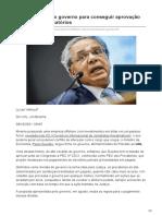 Guedes segue no governo para conseguir aprovação da PEC dos Precatórios