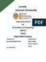 Digital Watch Programme