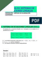 Semana 02 - Sistema de Ecuaciones Lineales