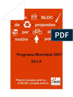 Programa Electoral BLOC Silla 2007