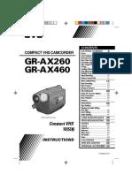 JVC GR-AX260 Manual