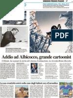 Addio ad Albicocco, grande cartoonist