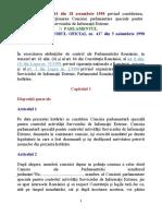 HOTĂRÂRE nr. 44 din 1998, privind Comisia parlamentară pentru controlul activităţii SIE