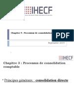 Chapitre 4 Processus de consolidation comptable