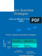 Generic Business Strategies
