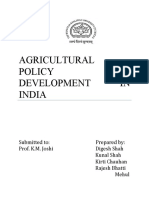 Types of Agricultural Policies