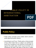 Public Policy in International Arbitration