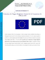 Evaluation de l'Appui Budgétaire Général de la Commission de l'UE aux ACP