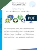Etat des lieux de l'intégration régionale en Afrique