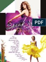 Speak Now - Digital Booklet