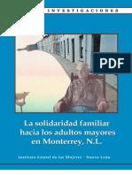 La solidaridad familiar hacia los adultos mayores en Monterrey