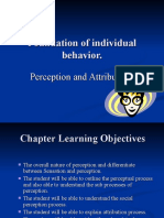 Foundation of individual behavior