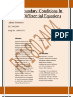 Mixed Boundary Conditions In Solving Differential Equations