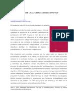 EL CASO DE LA ALFABETIZACION CUANTITATIVA