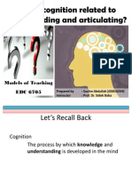 How is Cognition Related to Understanding&Articulating