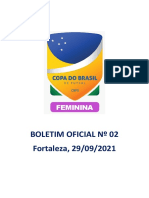 Boletim Oficial Nº 02 Copa Do Brasil Fem 2021