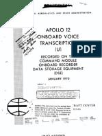 Apollo 12 Onboard Voice Transcription CM