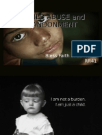 CHILD ABUSE and ABANDONMENT