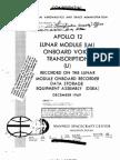 Apollo 12 Onboard Voice Transcription LM