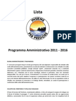 Programma amministrativo 2011-2016